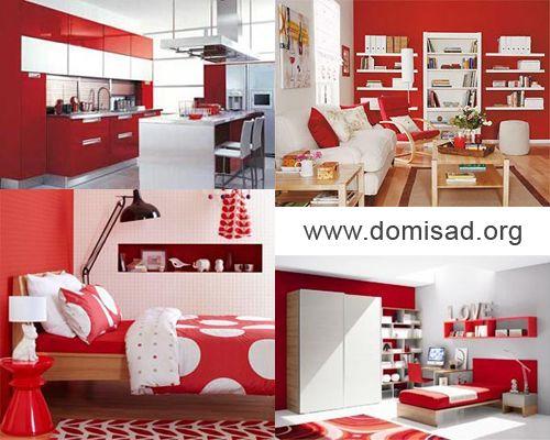 Красно-белый дизайн интерьера, как сочетать красный и белый цвета?