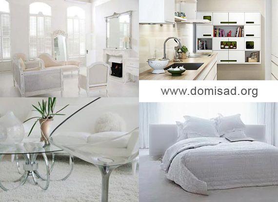 Белый интерьер — идеи и советы для дизайна квартиры, фото.