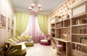 Дизайн детской комнаты для девочки, фото интерьеров.