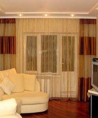 Дизайн штор для гостиной комнаты, советы и фото.
