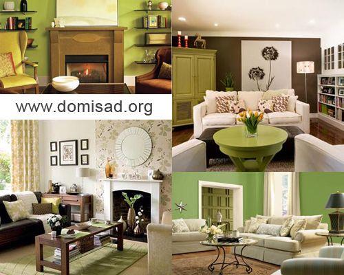 Как правильно сочетать коричневый и зеленый цвета в дизайне интерьеров?