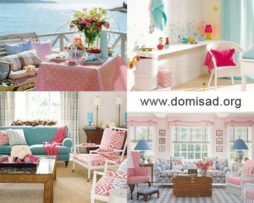 Как правильно сочетать розовый и голубой цвета в дизайне интерьера?