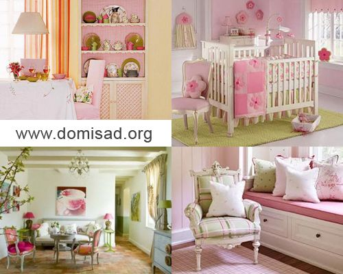 Как сочетать розовый и оливковый (зеленый) цвета в дизайне интерьера?