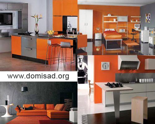 Как сочетать серые и оранжевые цвета в дизайне интерьера?
