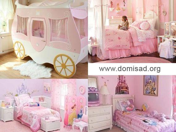 Комната принцессы — дизайн детской для девочки, фото.