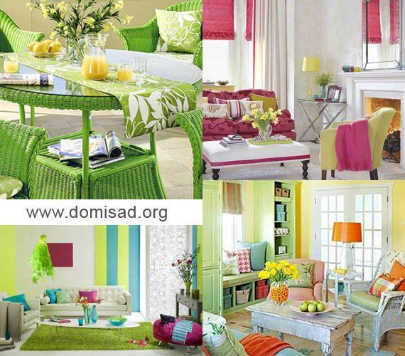 Палитра весенних цветов в дизайне, идеи для весеннего итерьера.