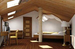 Стильные мансарды — дизайн интерьера дома с мансардой, фото.